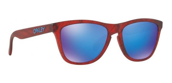 Oakley Frogskins M Red Woodgrain/sapphire Iri 009013-b7
