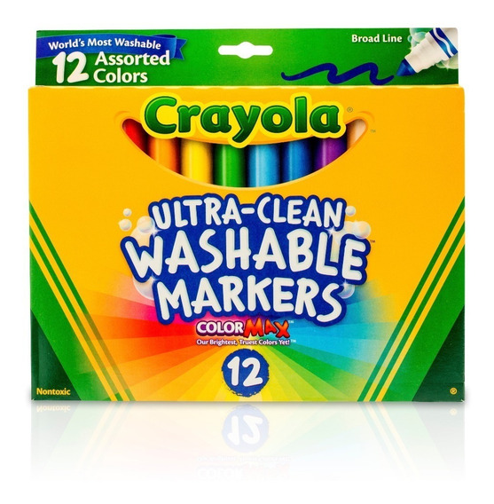 Marcadores Crayola 12 Unidades Lavables