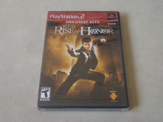 Jogo Jet Li Rise To Honor Playstation 2 Original Lacrado Ps2