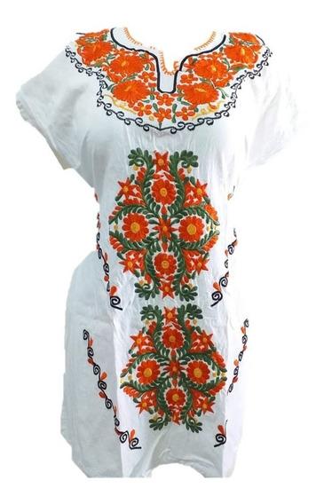 Elegante Vestido Blanco Artesanal Promocion