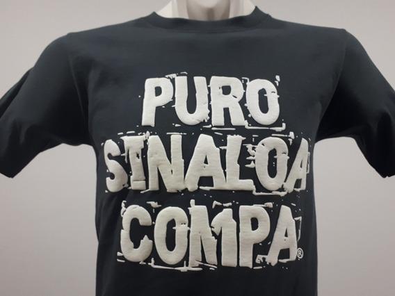 2 Playeras Puro Sinaloa Compa Frase Psc Color Gris Culiacán