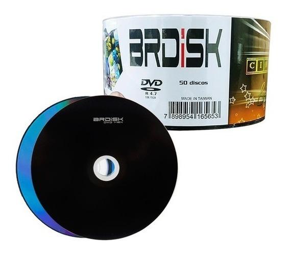 Dvd-r Mídia Dvd 16x Br Disk Pack Com 50 Unidades - Lacrado