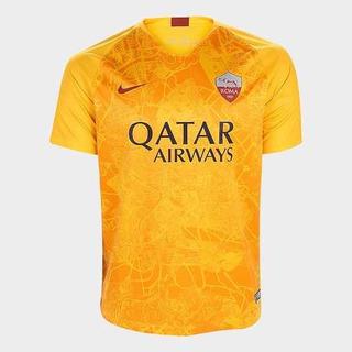 Camisa Roma Amarela Nova Nike Original Oficial 2018/2019