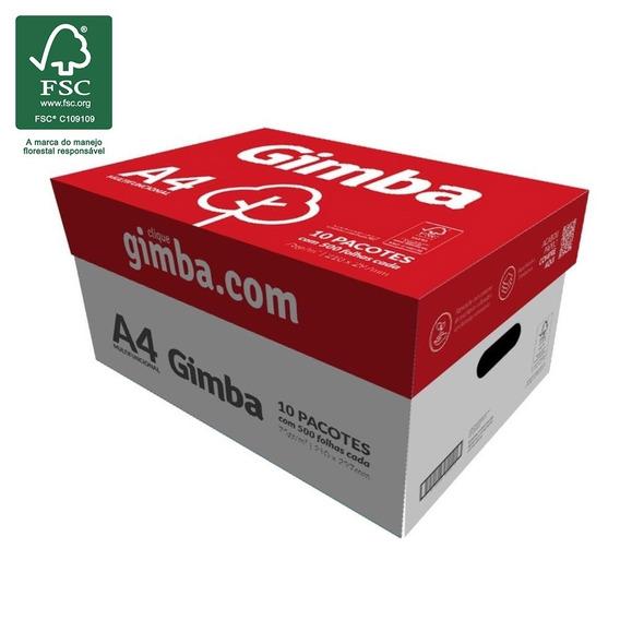 Papel Sulfite A4 75g Cx 5000 Folhas Gimba