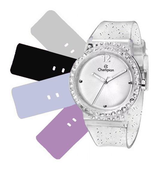 Relógio Feminino Champion Troca Pulseiras Cp28275s / 63731