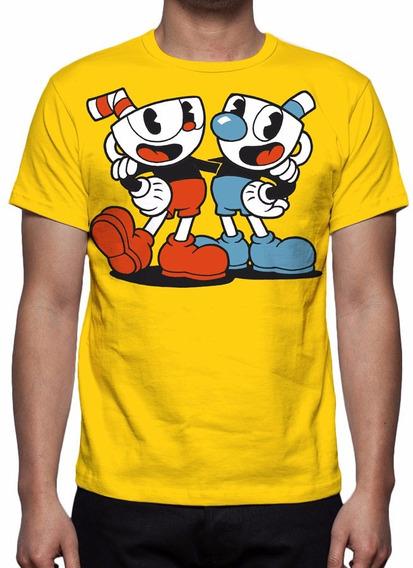 Camisa, Camiseta Game Cuphead - 2017 - Estampa Total