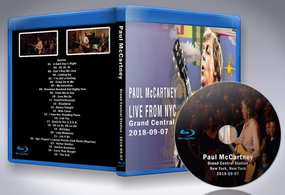 Blu Ray Paul Mccartney - Grand Central Station Ny 2018