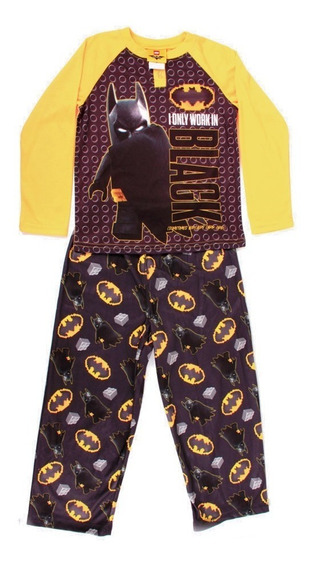 Pijama Lego Batman Movie Forever Estampado Para Niños