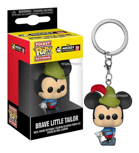 Funko Pop Llavero Brave Little Tailor Mickey Disney Original