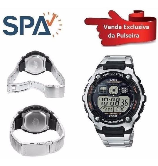 Pulseira Do Relógio Casio Original Ae-2000wd-1av De Aço