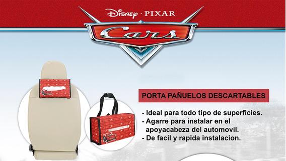 Porta Papel Tissue Pañuelos Servilletas Auto Disney Cars