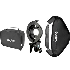 Softbox Godox 60x60 Para Flash Speedlight Com Bolsa Nylon