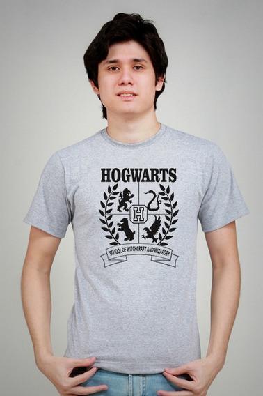 Camiseta Hogwarts Harry Potter Anime Geek Do Pp Ao Egg