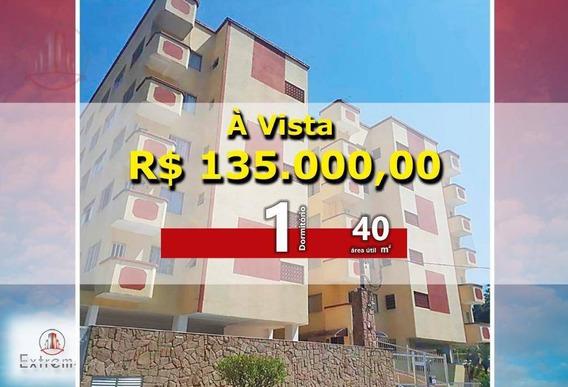 Apartamento Com 1 Dormitório À Venda, 40 M² Por R$ 135.000 - Tupi - Praia Grande/sp - Ap1141