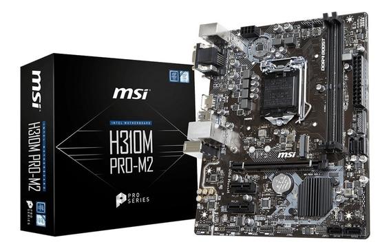 Placa Mãe Msi H310m Pro-m2 Intel 1151 Ddr4 Chipset H310