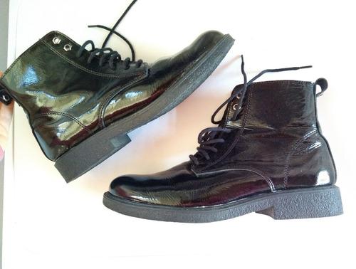 Zapatos Borcegos De Charol 40 Febo