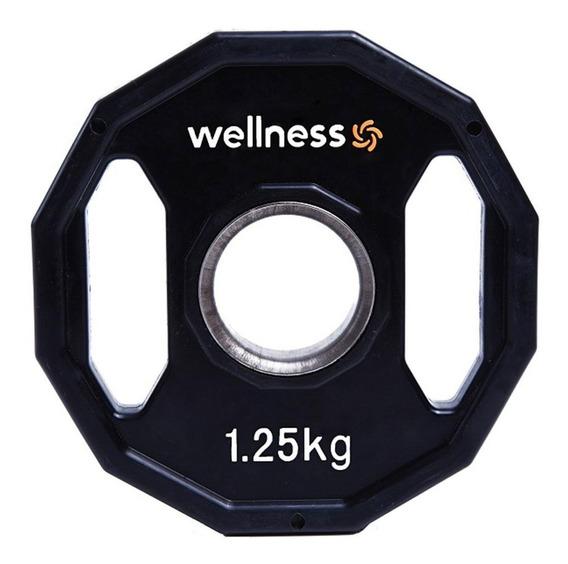 Anilha Poli. Furação Olímpica 12 Faces Pegada 1,25k Wellness