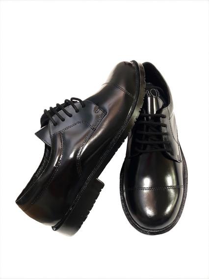 Sapato Social Exercito Masculino Preto Militar +palmilha Gel