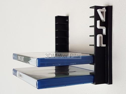 Soporte Organizador Pared 8 Cajas Juegos Ps4 Ps3 Xbox Dvd Bd