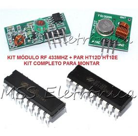 Kit Modulo Rf 433mhz + Ht12d + Ht12e + Diagrama Ligação