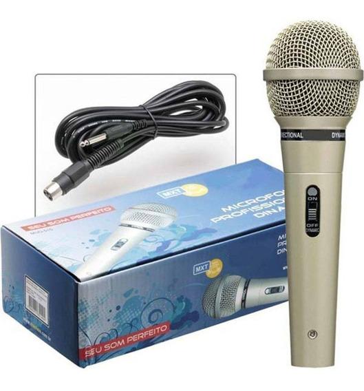 Microfone Profissional Dinâmico Mxt M515 Com Fio