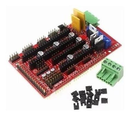 Kit Mega 2560+ramps 1.4+4 Drva4988+frame Mdf+10 Rolamentos