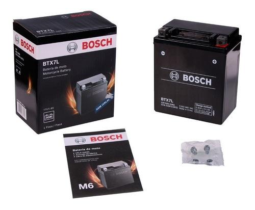 Imagen 1 de 1 de En Cuotas Bateria Honda Cb 190 Ytx7l-bs Bosch Btx7l 12v 6ah