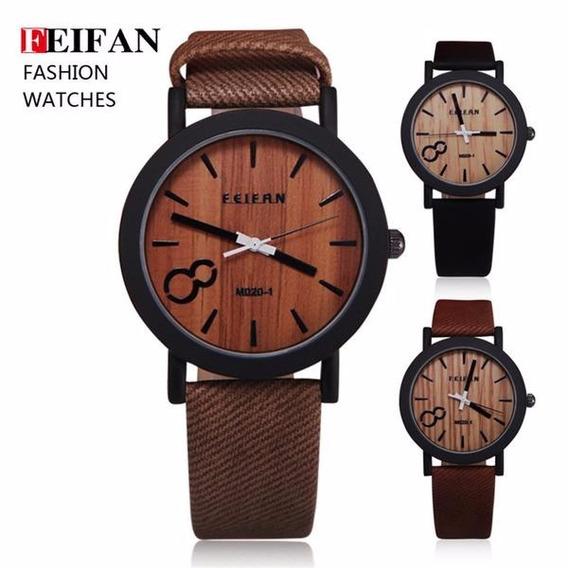 Relógio Marca Feifan M009 Madeira Lindissimo