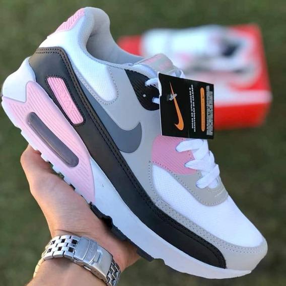 air max 90 feminino rosa bebe