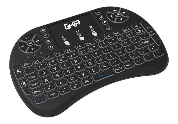 Mini Teclado Ghia Con Touch Pad Para Smart Tv, Tv Smart Box