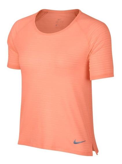 Remera Nike Miler Rosa Mujer