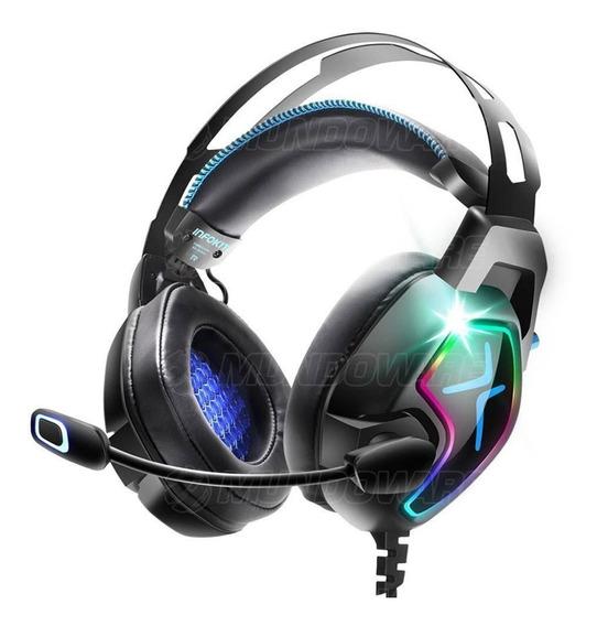 Headphone Gamer 4 Falantes Mic Anti-ruído P/ Pc Ps4 Celular