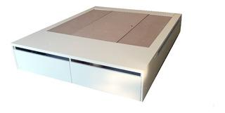 Cama Box 2 Plazas-cajones-140x200 Tipo Futon Japones-baulera
