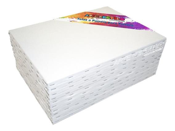 6 Telas Para Pintura 40x60 P/ Tinta A Óleo Ou Acrilica