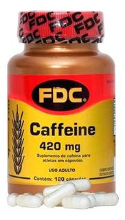 Caffeine Cafeína 420mg 120 Cápsulas Fdc Vitaminas