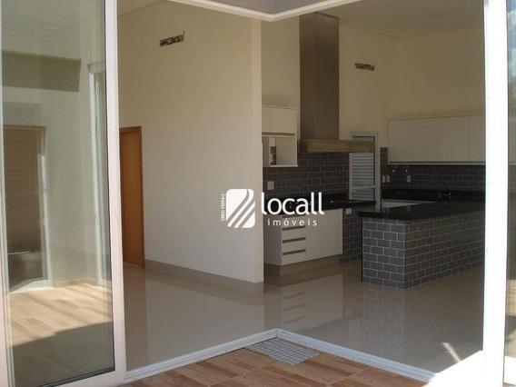 Casa Com 3 Dormitórios À Venda, 170 M² Por R$ 770.000 - Condomínio Village Damha Mirassol I - Mirassol/sp - Ca1926