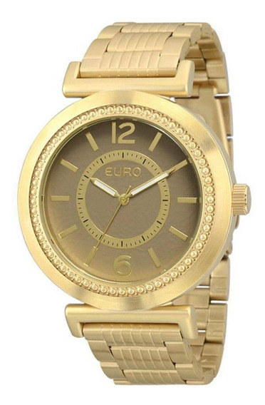 Relógio Euro Feminino Dourado Eu2039jf/4d