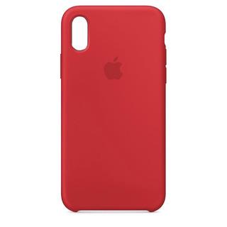 Carcasa Funda De Silicona Para iPhone XR Rojo