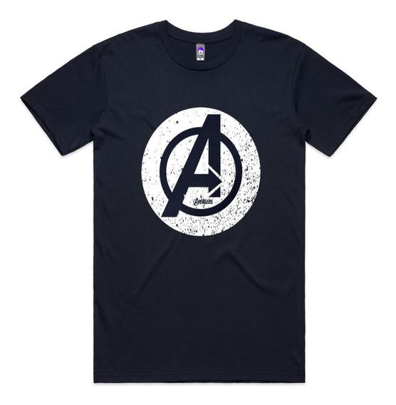 Camiseta Vingadores Logo Camisa Blusa Manga Curta Presente