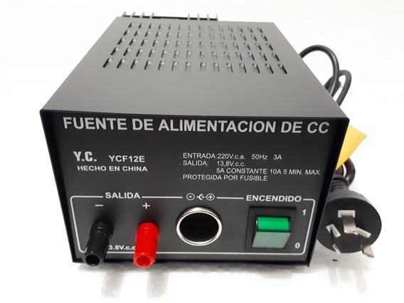 Fuente De Alimentacion Yedro 13.8v 5 / 10 Amperes
