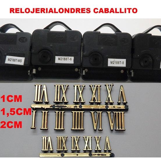 10 Maquinas + 10 Numeros Para Hacer Armar Relojes Caballito