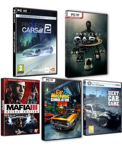 Next Car Game, Car Mechanic 2018, Mafia 3, Project Cars 1,2