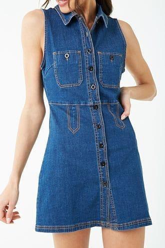 Vestido Jean Forever 21 Importado