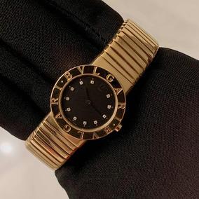 Bulgari Tubogas Lady Todo De Ouro Amarelo Com Diamantes !!