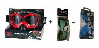 Antiparras Motocross Enduro Con Camara De Video Liquid Image