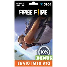 Free Fire 5100 Diamantes +510 Bônus (5610) Recarga P/ Conta