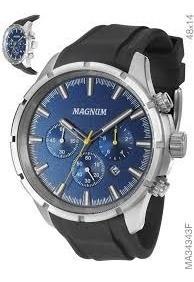 Relógio Magnum Masculino Cronógrafo Ma34343f Azul Oferta