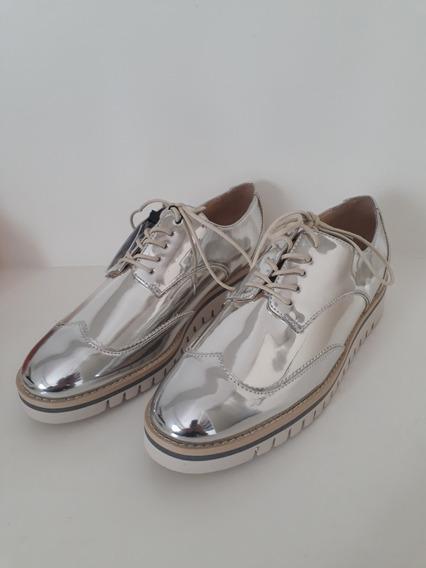Lindo Sapato Baixo Feminino Zara