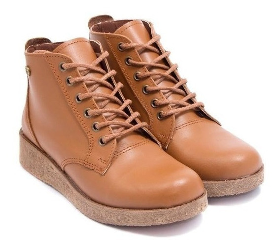 Botineta Bota Zapato Cuero Citadina Mod Crista Super Comoda