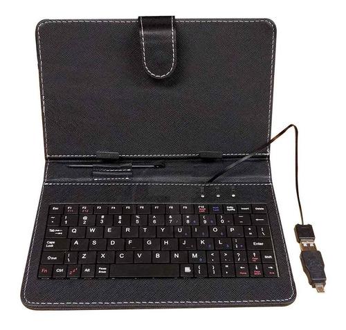 Estuche Protector Con Teclado Tablet 7  Negro